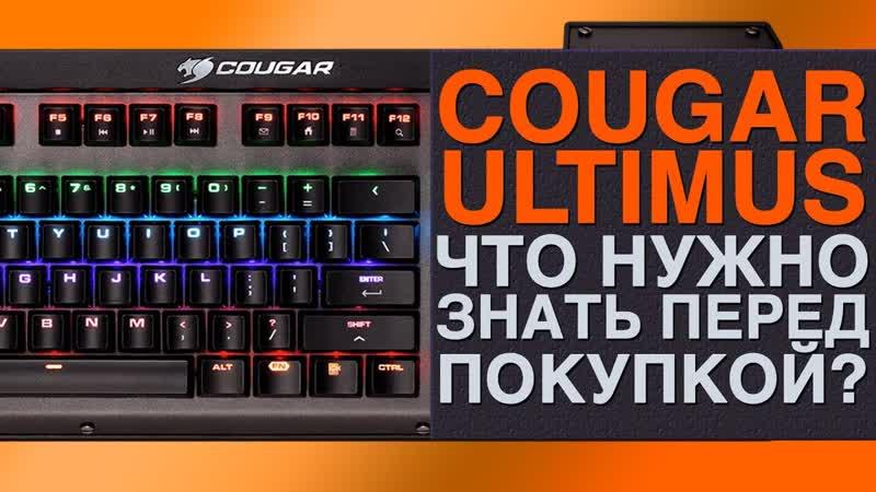 Клавиатура Cougar Ultimus Что нужно знать перед покупкой