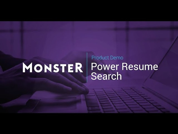 Monster Power Resume Search Guided Tour