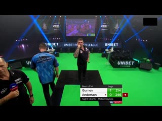 Daryl Gurney vs Gary Anderson (PDC Premier League Darts 2020 / Week 13)
