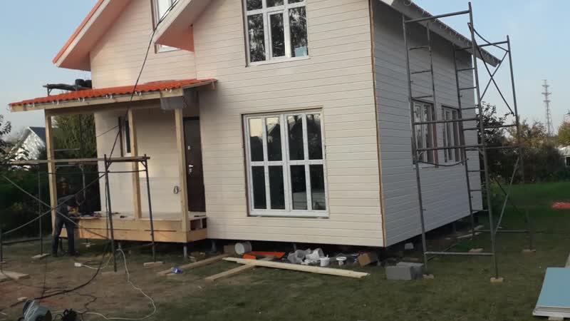 Каркасный дом 7,5 х 7, 5 м.
