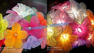 Как сделать декоративную гирлянду с цветами из капрона