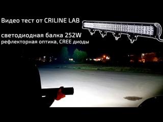 Рефлекторная светодиодная балка 252w cree