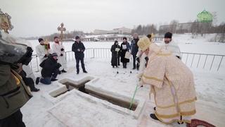 Архиепископ Сыктывкарский и Коми-Зырянский Питирим освятил главную крещенскую купель республики Коми