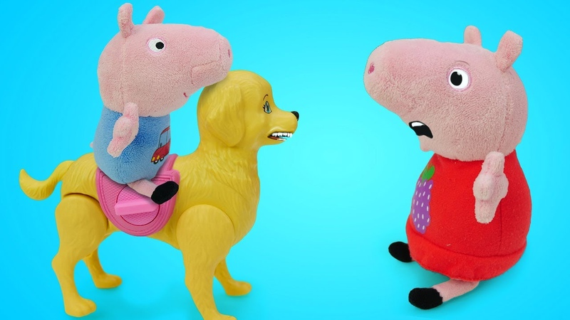 Джордж завел собаку Видео Свинка Пеппа на русском языке Весёлые истории про мягкие игрушки