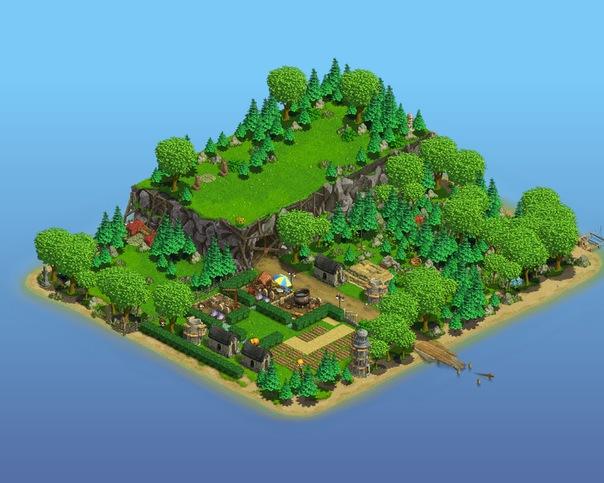 картинки древнего острова в зомби ферме вот это уже