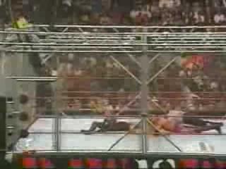 WWF Raw Steel Cage Match - Edge And Christian Vs. The Hardy Boyz