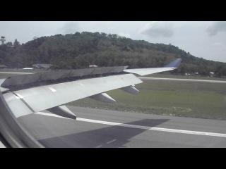 Посадка самолета Аirbus 330 в аэропорту Пхукета