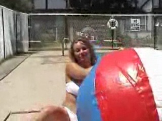 Maya giant beach ball inflate