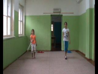 Показательные Бебегон 2014 Палочки 6 июля Ксюша Бурханова и Кристина Денисова