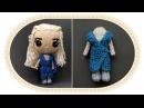 Кукла Дейенерис Таргариен крючком, часть 6. Crochet Daenerys Targaryen, part 6. Game of Thrones.