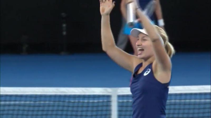 Final point Daria Gavrilova vs Timea Bacsinszky AusOpen R3