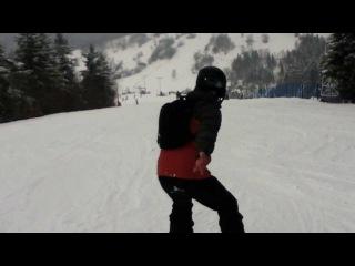 kak ja bratishku uchil ezdit' na snowboarde :))))