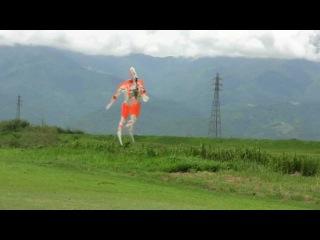 "Full scale    78"" rc super hero  ultraman  Smoked flight  1"