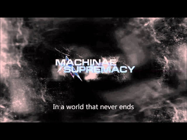 Machinae Supremacy Player One with lyrics on screen