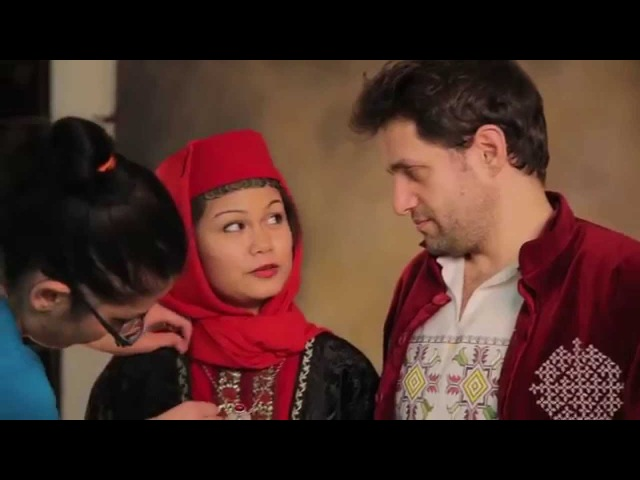 Levon Aronyan and Arianne Caoili in Armenian traditional costumes