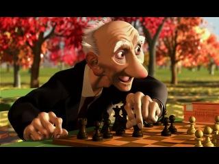 мультфильм Disney Игра Джери   Короткометражки Студии PIXAR [том1]  про шахматы Старичок с шахматами