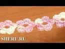 Crochet Bracelet Floral Cord Урок 55 Вязаные цветочки в шнуре