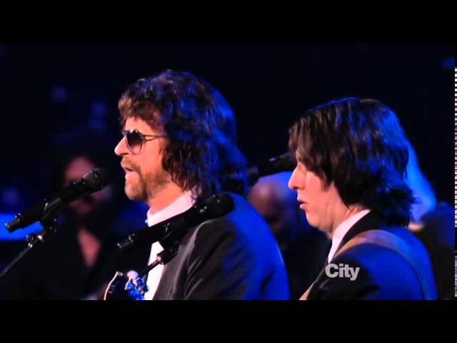 Jeff Lynne Dhani Harrison and Joe Walsh Something