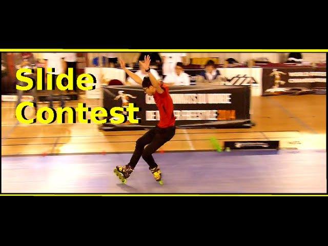 Slide Contest wfsc 2014 World Championships of Freestyle Roller paris seba skates patinaje
