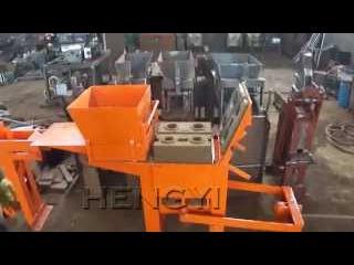 Мини кирпичный станок HY 2-40 глинный лего кирпич