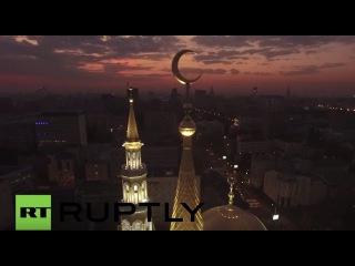 Russia: Drone footage captures majesty of Moscow Cathedral Mosque at dawn Московская соборная мечеть дрон с высоты Москва Россия
