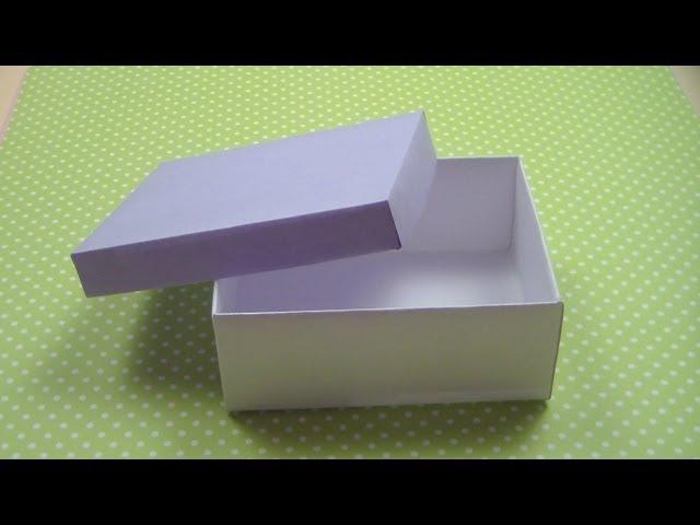Как сделать КОРОБКУ С КРЫШКОЙ How to make а Paper Box ✿ NataliDoma