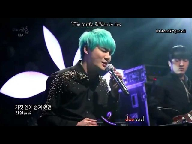 XIA Junsu Flower ballad version LIVE @ EBS Space han rom eng
