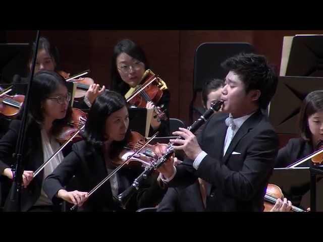 Han Kim plays Shalom Aleichem Rov Feidman for Clarinet and Orchestra by Bela Kovacs