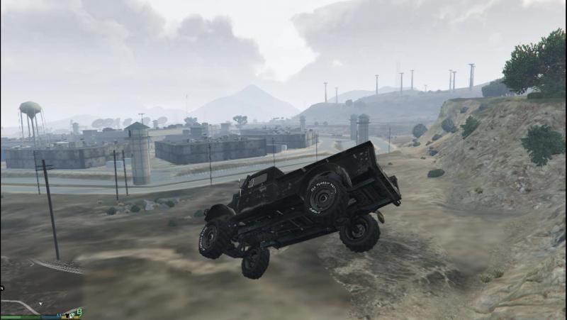 GTA 5 пиратка не удачно призимлился