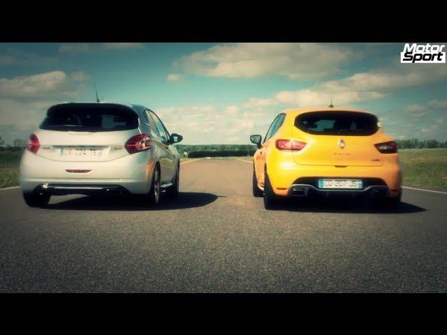 Drag Race Renault Clio RS VS Peugeot 208 GTi Motorsport NaZa5aske