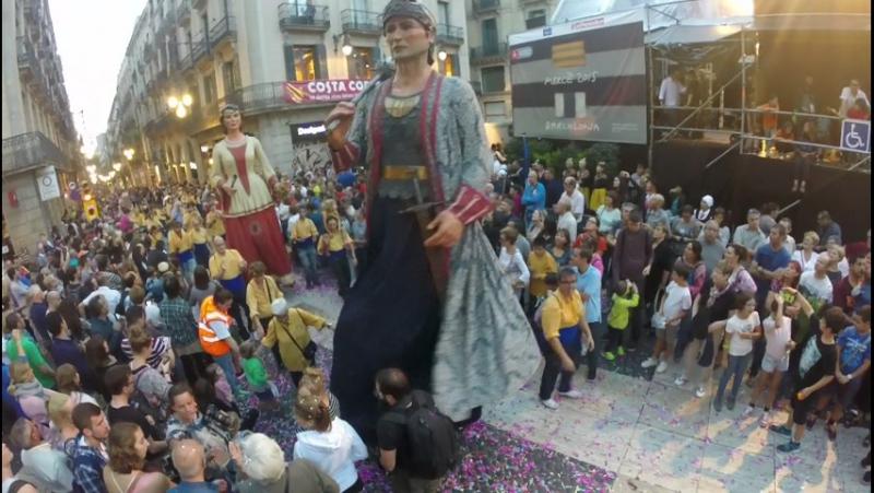 La Mercé Parade of Giants, Barcelona Aug24 2015