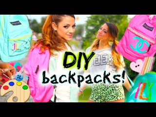 Back to School: DIY Personalized Backpacks!  ♡