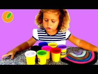 Лепим из пластилина радугу — #Дети #Sabrinka 67