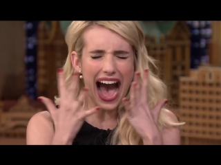 Emma Roberts Teaches Jimmy How to Perfect a Bict Face