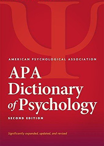 APA Dictionary of Psychology- 2nd Edition