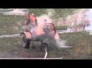 Коммунальщики сливают кипяток во двор (М.Лушпы\Сумы)