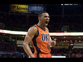 Russell Westbrook Throws it Off Rodney Hood's Back and Beats the Buzzer
