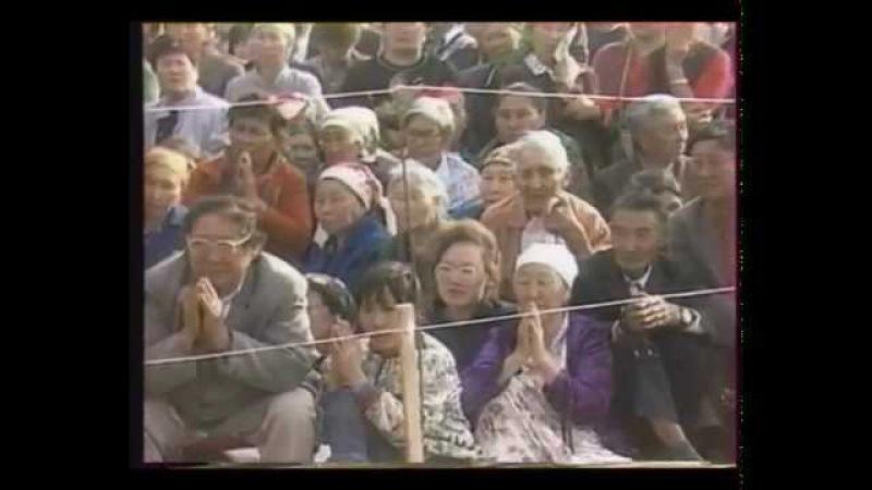 Приезд Его Святейшества Далай-ламы в Калмыкию. 1992 год. Из архива Калмыцкого ТВ.