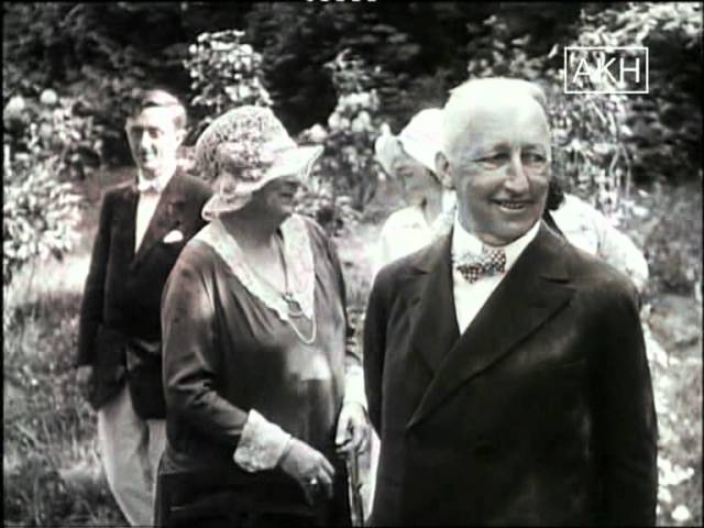 Elisabeth Förster Nietzsche и Siegfried Wagner 1929 год