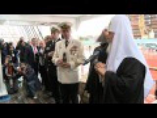 Патриарх Кирилл посетил учебное парусное судно «Мир» в Архангельске
