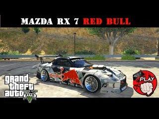 GTA V /Покатушки на MAZDA RX 7/ Red Bull edition