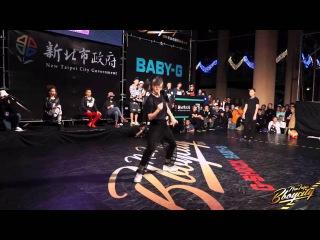 Freestyle Girl 2on2 Semifinal-1 Baby Sleek & Lip J vs Waack Be Twins | 2014 New Taipei BBoy City