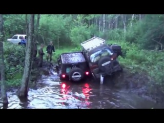 OFF Road 4x4 Fails in Mud Jeep Wrangler vs Mitsubishi Delica vs ATV vs UAZ Patriot