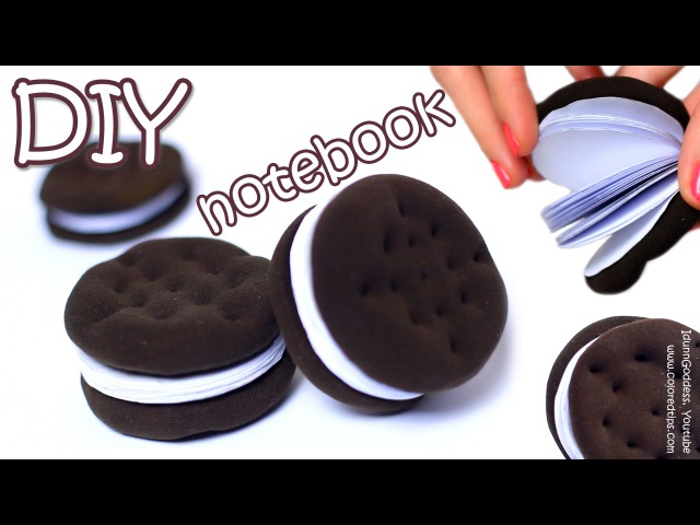 How To Make Oreo Notebook DIY Chocolate Sandwich Cookies Notebook Tutorial