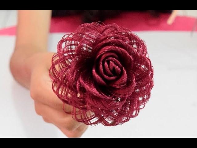 Como hacer una rosa de tela Dia de las madres Fabric Flowers Roses- Loveluzlop