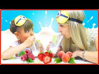 МОЛОЧНЫЙ ЧЕЛЛЕНДЖ от Vasilisa TV Вызов принят | Milk Challenge