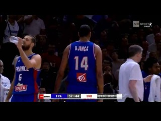 Nikola Jokic vs Alexis Ajinça , Serbia - France, friendly fight ...