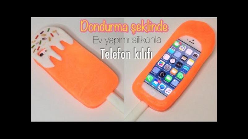 DONDURMA ŞEKLİNDE EV YAPIMI SİLİKONLA TELEFON KILIFI