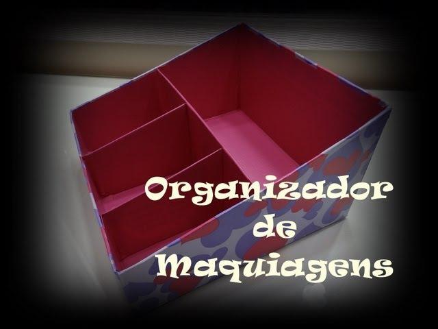 DIY   Organizador de Maquiagens