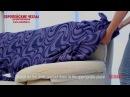 Как надеть европейский чехол на диван. Коллекция Данубио.